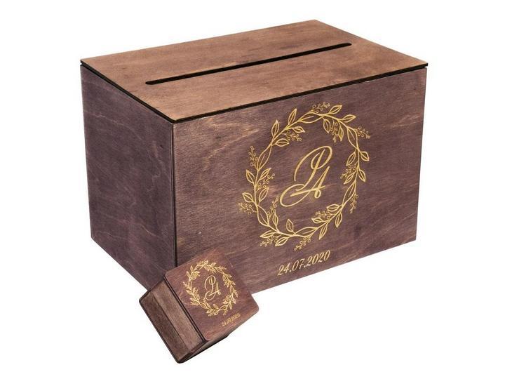 Лазерная Гравировка на фанере, дереве, свадебная коробка, шкатулка